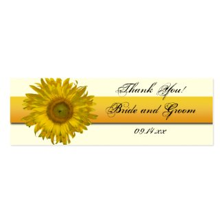 Sunflower Ribbon Wedding Favor Tags