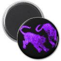 Xian China 2002 Purple Ghost Tigers Black Circle T
