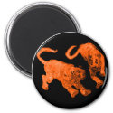 Xian China 2002 Orange Ghost Tigers Black Circle T