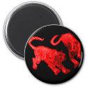 Xian China 2002 Red Ghost Tigers Black Circle Tran