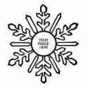 Christmas Tree Ornament Snowflake 1 White  White