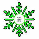 Christmas Tree Ornament Snowflake 1 Green  White