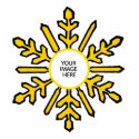 Christmas Tree Ornament Snowflake 1 Gold  White