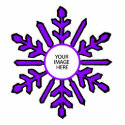 Christmas Tree Ornament Snowflake 1 Purple  White