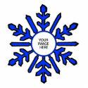 Christmas Tree Ornament Snowflake 1 Blue  White