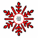 Christmas Tree Ornament Snowflake 1 Red White Disk