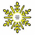 Christmas Tree Ornament Snowflake 1 Yellow  White