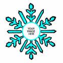 Christmas Tree Ornament Snowflake 1 Cyan  White