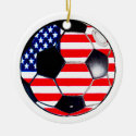 Soccer Ball Flag USA The MUSEUM Gifts