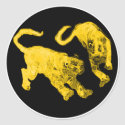 Xian China 2002 Gold Ghost Tigers Black Circle Tra
