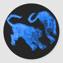Xian China 2002 Blue Ghost Tigers Black Circle Tra