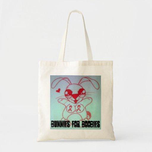 IMG00527, Bunnies for Boobies Canvas Bag
