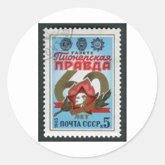 img014 classic round sticker