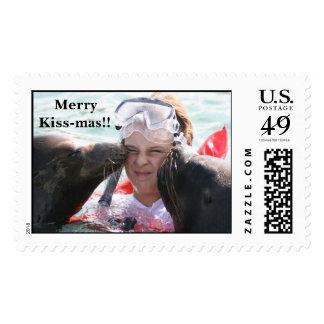 IMG_0041, MerryKiss-mas!! Postage Stamp