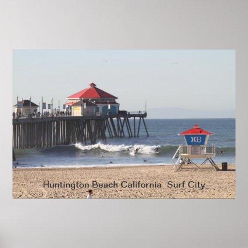 IMG_0073, Huntington Beach California  Surf City Poster