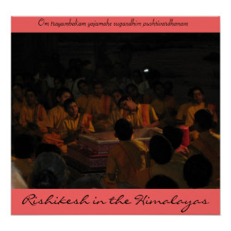 IMG_0088, Rishikesh in the Himalayas , Om traya... Print