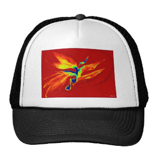 IMG_0109-001.jpgBird of paradise on red Trucker Hat