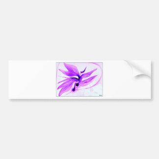 IMG_0109.jpg bird of paradise in violet Car Bumper Sticker
