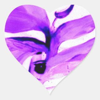 IMG_0109.jpg bird of paradise in violet Heart Sticker