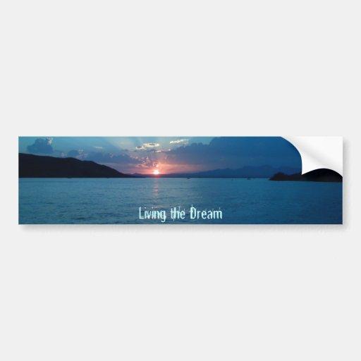 IMG_0181, Living the Dream Bumper Sticker