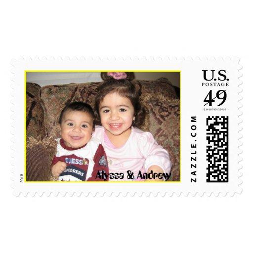 IMG_0254, Alyssa & Andrew Postage Stamps