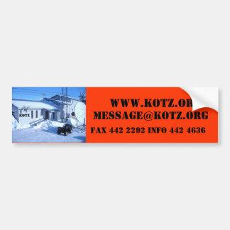IMG_0319, KOTZ, WWW.KOTZ.ORG, MESSAGE@KOTZ.ORG,… ETIQUETA DE PARACHOQUE