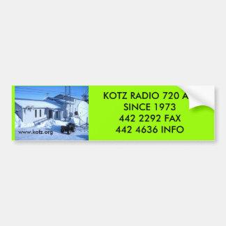 IMG_0319, www.kotz.org, RADIO 720 AMSINCE de KOTZ… Pegatina De Parachoque