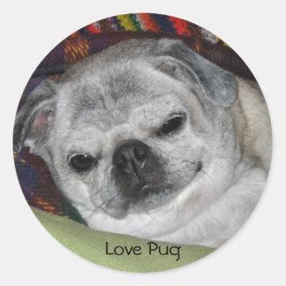 IMG_0465, Love Pug Classic Round Sticker