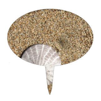 IMG_0578.JPG  Sandollar seashell on beach Cake Topper