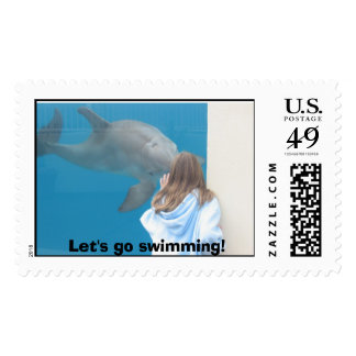 IMG_1472, Let's go swimming! Postage