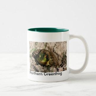 IMG_1852, Northern Greenfrog Two-Tone Coffee Mug