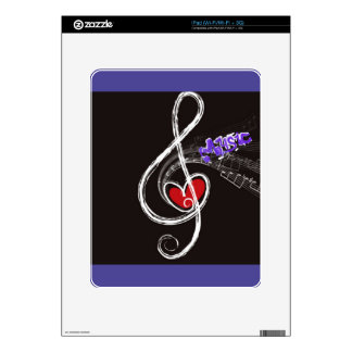 IMG_1857.JPG customizable  Music note designed Decal For iPad