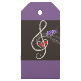 IMG_1857.JPG customizable  Music note designed Wooden Gift Tags