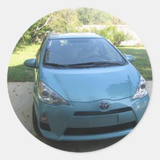 IMG_2140.JPG Prius Toyota car Classic Round Sticker