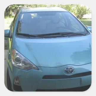 IMG_2140.JPG Prius Toyota car Square Sticker