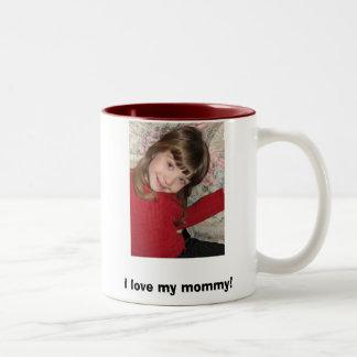 IMG_2263, I love my mommy! Two-Tone Coffee Mug