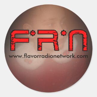 IMG_2278, flavorradio, www.flavorradionetwork.com Pegatina Redonda