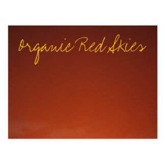 IMG_2397, Organic Red Skies Postcard