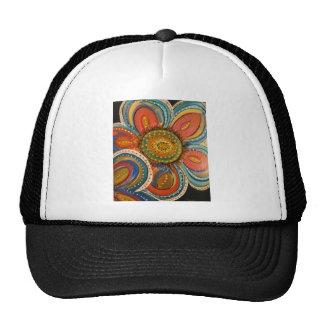 IMG_2459.jpg large blue flower multiple designs on Trucker Hat