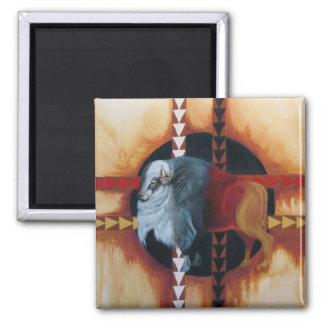 IMG_2593white buffalo 2 Inch Square Magnet