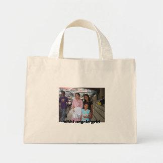 IMG_3378, nikki angela grid Mini Tote Bag