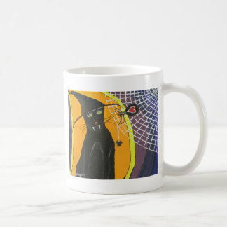 IMG_4104.JPG Black Cat In A Hat Coffee Mug