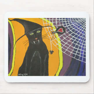 IMG_4104.JPG Black Cat In A Hat Mouse Pad