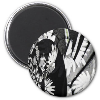 IMG_6153Exotic Abstract Black White by Othon Refrigerator Magnets