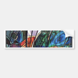 IMG_6877 stained glass-like  abstract by Othon Bumper Sticker