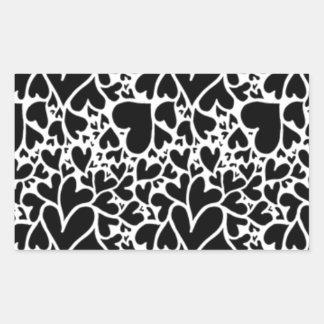 IMG_7746.PNG cute multi heart design customizable Rectangular Sticker