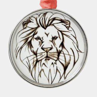 IMG_7779.PNG brave lion design Metal Ornament