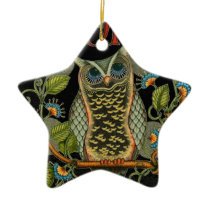 IMG_7786.PNG wise owl customizable design Ceramic Ornament
