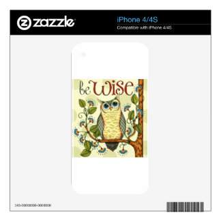 IMG_7786.PNG wise owl customizable design Decal For The iPhone 4