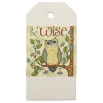 IMG_7786.PNG wise owl customizable design Wooden Gift Tags